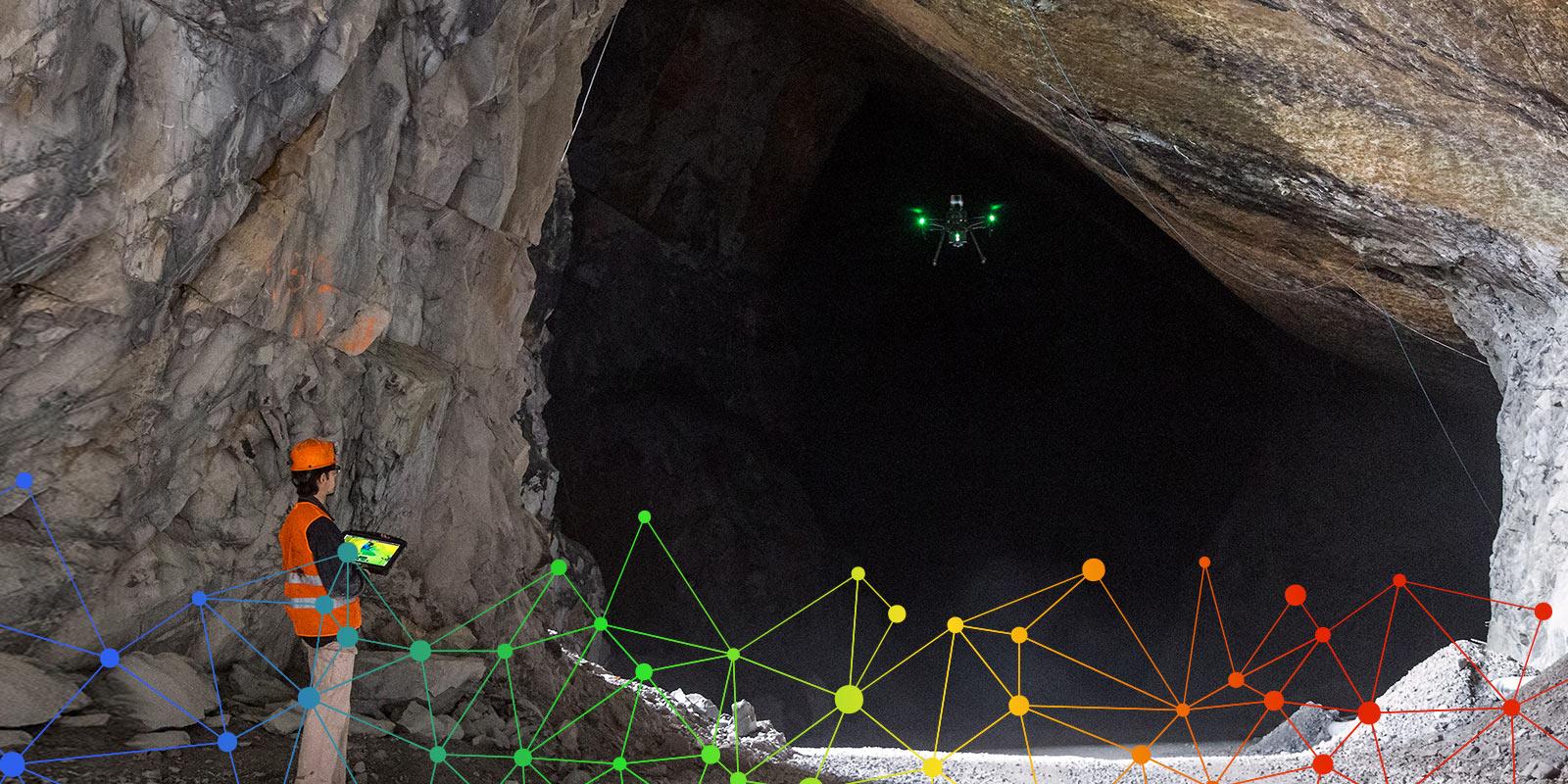 MINELiDAR Hovermap Drone Mounted LiDAR scanning scans mining underground Perth Western Australia